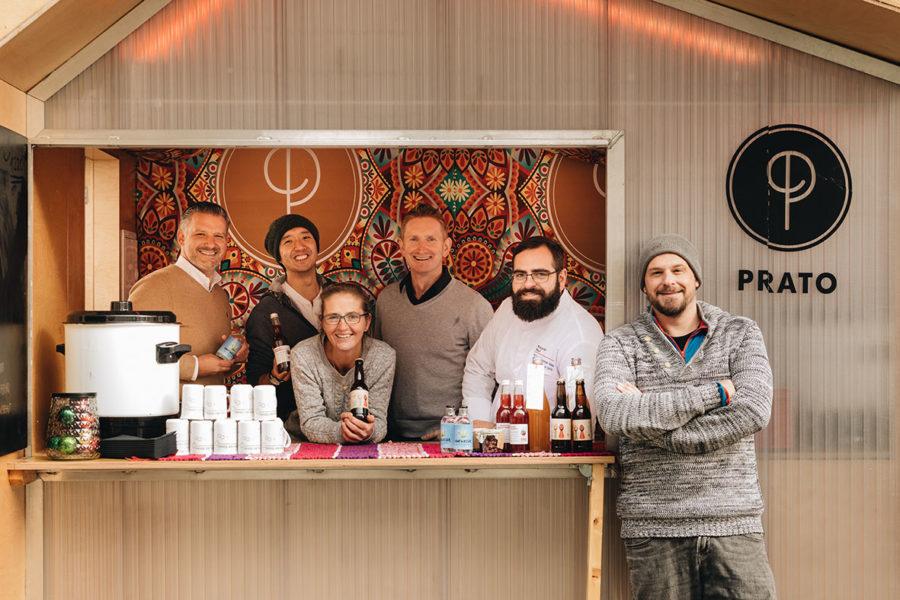 PRATO-Adventstand mit 3-Hauben-Koch und Bierbrauerin des Jahres