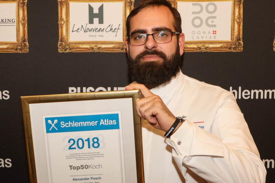 Alexander Posch in die Riege der Top-50-Köche Österreichs aufgenommen