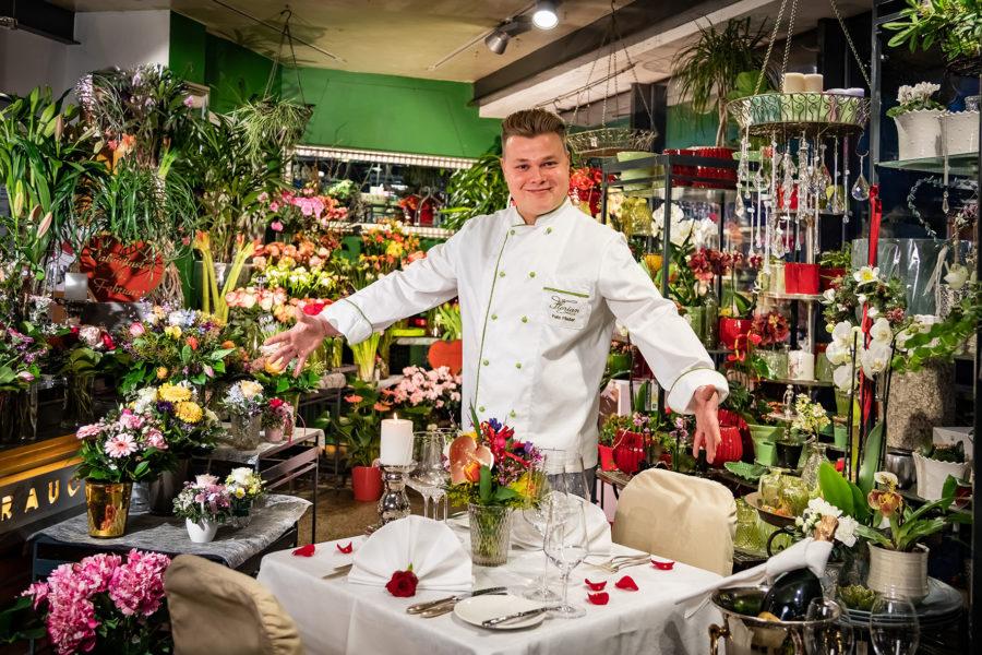 Blumenfachgeschäft wird zum Rosenrestaurant: Parkhotel Graz serviert Österreichs romantischstes Valentinstag Dinner