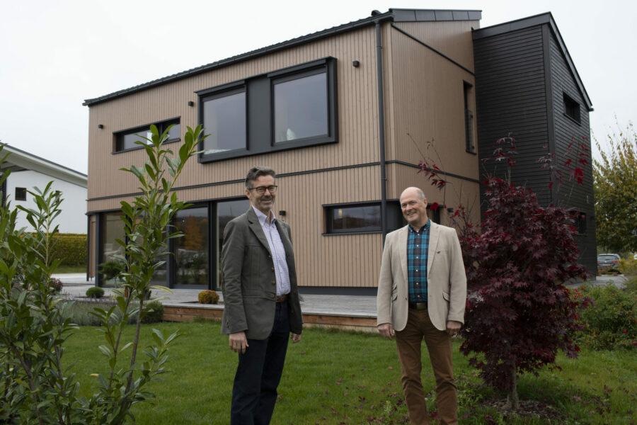 GRIFFNER präsentiert neuen Haustyp: DOPPELPULT mit revolutionärem Öko- und Energiekonzept