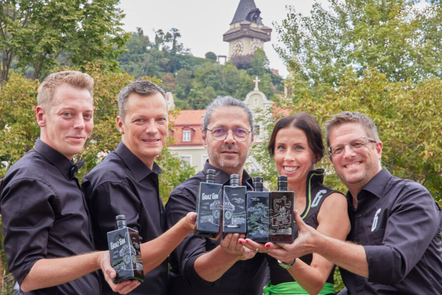 Graz Gin als neues Barzeichen für Graz