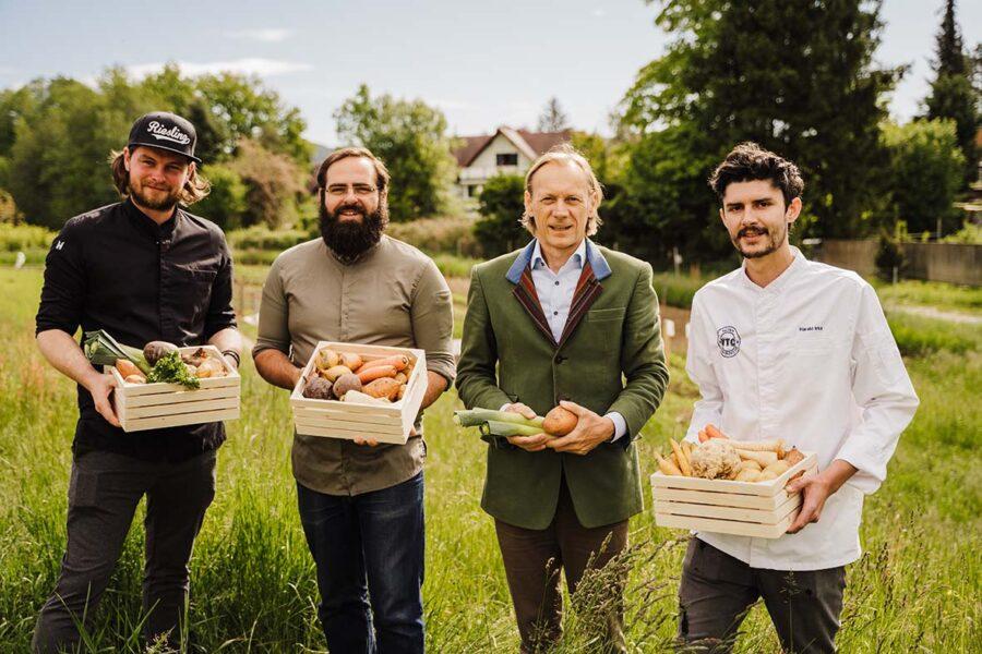 MORGENTAU Charity-Erntedank: 8 Hauben für karitatives Urban Farming in Graz